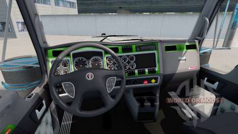Interior Green-gray for Kenworth W900 for American Truck Simulator