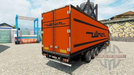 Skin Ullrich on the semitrailer-the refrigerator for Euro Truck Simulator 2