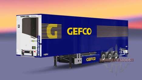 Semi-trailer refrigerator Chereau Gefco for Euro Truck Simulator 2