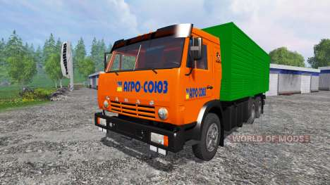 KamAZ-53212 [orange] for Farming Simulator 2015