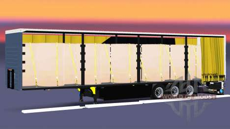 Curtain semi-trailer Schmitz Cargobull Dischner for Euro Truck Simulator 2