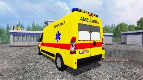 Peugeot Boxer [ambulance] for Farming Simulator 2015
