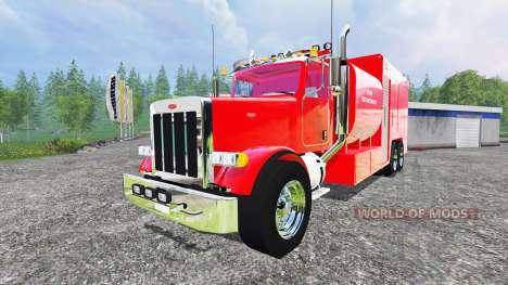 Peterbilt 378 Fire Department for Farming Simulator 2015