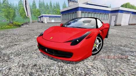 Ferrari 458 Italia for Farming Simulator 2015