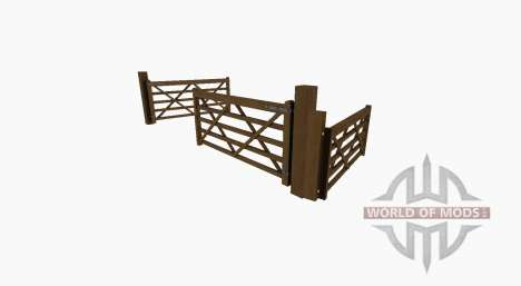 Wooden gate for Farming Simulator 2017