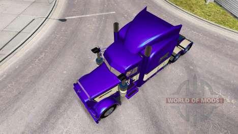 Metallic Purple skin for the truck Peterbilt 389 for American Truck Simulator