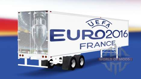 Skin Euro 2016 v2.0 on the semi-trailer for American Truck Simulator