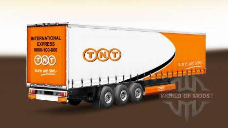 Skin TNT on a curtain semi-trailer for Euro Truck Simulator 2