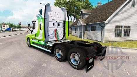 Skin HYBRID tractor Freightliner Cascadia for American Truck Simulator