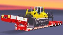 Low bed trawl Doll with a load of bulldozer v2.0 for Euro Truck Simulator 2