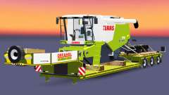 Low sweep with a cargo CLAAS Lexion 770 for Euro Truck Simulator 2