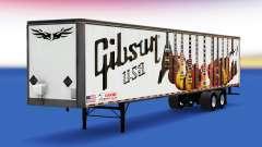 Skin Gibson Guitars on the trailer for American Truck Simulator