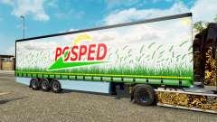 Curtain semitrailer Krone Posped for Euro Truck Simulator 2