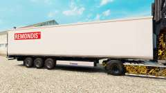 Skin Remondis on the semitrailer-the refrigerator for Euro Truck Simulator 2