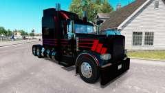 Skin Black SR on the truck Peterbilt 389 for American Truck Simulator