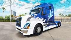 Blue Shark skin for Volvo truck VNL 670 for American Truck Simulator
