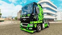 Green Dragon skin for MAN truck for Euro Truck Simulator 2