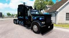 Bluesway skin for the truck Peterbilt 389 for American Truck Simulator