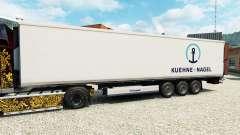 Skin Kuehne & Nagel for semi-refrigerated for Euro Truck Simulator 2