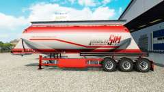 TruckSim skin on the semitrailer-cement truck for Euro Truck Simulator 2