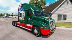 Скин INTERSTATE 80 Year на Freightliner Cascadia for American Truck Simulator