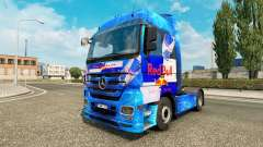 Red Bull skin for the truck Mercedes-Benz for Euro Truck Simulator 2