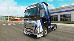 Blue Stripes skin for Volvo truck for Euro Truck Simulator 2