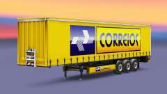 Correios Logistic skin for trailers for Euro Truck Simulator 2