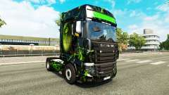 The skin Monster on tractor Scania R700 for Euro Truck Simulator 2