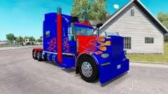 Skin Optimus Prime v2.0 tractor Peterbilt 389 for American Truck Simulator