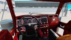 The interior of v1.1 for Kenworth W900 for American Truck Simulator