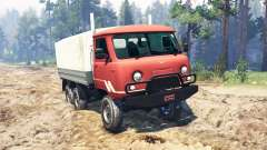 UAZ-33036 6x6 for Spin Tires
