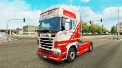 TruckSim skin for Scania truck for Euro Truck Simulator 2
