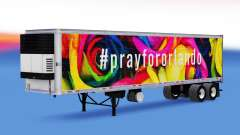 Skin PrayForOrlando on the trailer for American Truck Simulator