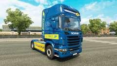 Skin La Poste for tractor Scania for Euro Truck Simulator 2