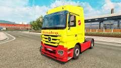 Sinalco skin for Mercedes truck Benz for Euro Truck Simulator 2