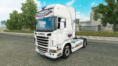 Russia White skin for the truck Scania for Euro Truck Simulator 2