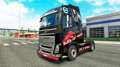 Skin Black Cat Trans for Volvo truck for Euro Truck Simulator 2