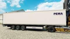 Skin PEMA for semi-refrigerated for Euro Truck Simulator 2