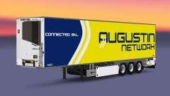Semi-trailer refrigerator Chereau Augustin Network for Euro Truck Simulator 2