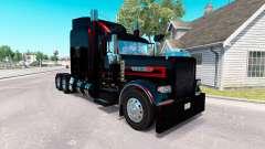 Скин Black Metallic Stripes на Peterbilt 389 for American Truck Simulator