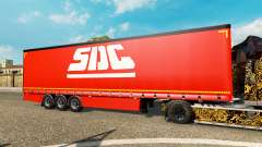 Curtain semi-trailer Krone SDC for Euro Truck Simulator 2
