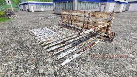 Pushing the rake for Farming Simulator 2015