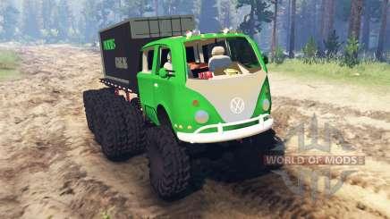 Volkswagen Samba 8x8 for Spin Tires