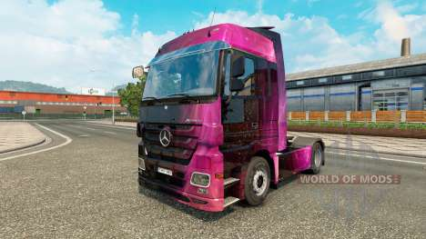 Skin Weltall on the tractor unit Mercedes-Benz for Euro Truck Simulator 2