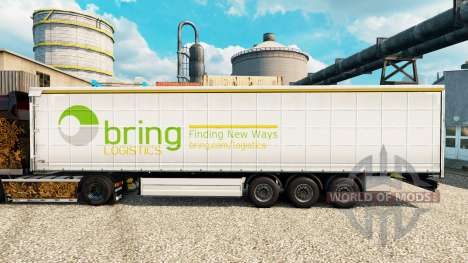 Skin of Bring Logistics to trailers for Euro Truck Simulator 2