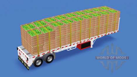 The semitrailer-platform with different loads v1 for American Truck Simulator