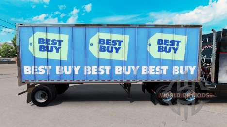 Skin Best Buy on small trailer for American Truck Simulator