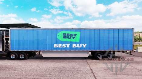 Skin Best Buy extended trailer for American Truck Simulator