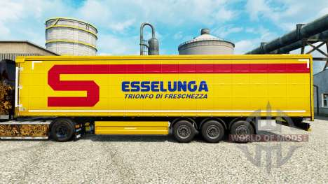Skin Esselunga S. p.A. on semi for Euro Truck Simulator 2